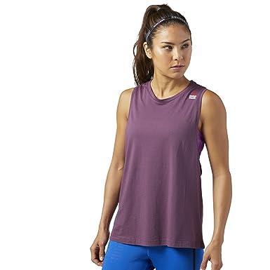 75a60ccff26f55 Amazon.com  Reebok Womens Crossfit Muscle Tank - Sprayed  Clothing