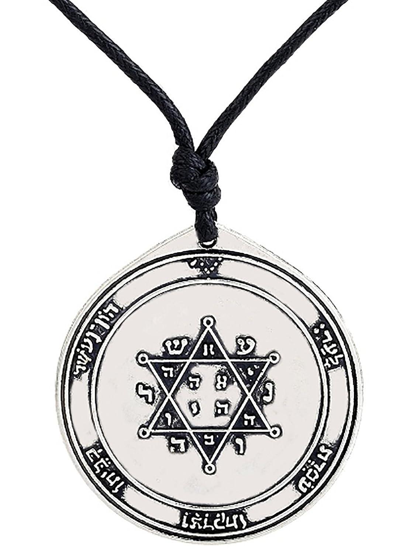 fishhook The Second Pentacle Of Jupiter Key of Solomon Talisman Necklace