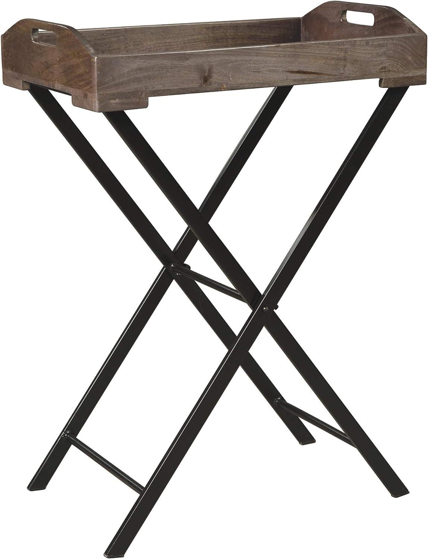 Ashley Furniture Signature Design - Cadocridge Tray Table - Casual - Gray/Black