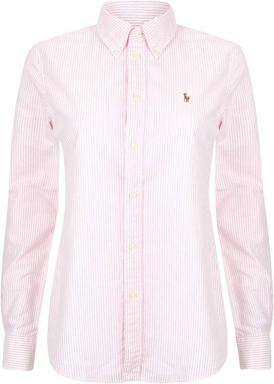Ralph Lauren Camisa Oxford de ajuste personalizado para mujer: Amazon.es: Ropa y accesorios