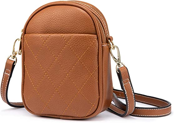 New Ladies Faux Leather Flap Over Buckle Closure Crossbody Handbag