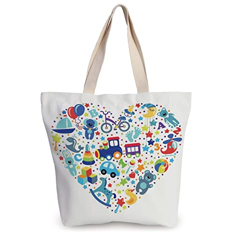 e7f2608f9f Amazon.com  iPrint Personalized Canvas Tote Bag