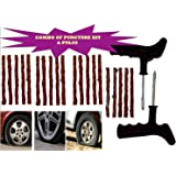 Tyre King Tubeless Tyre Puncture Plug Repair Kit for Car and Bikes