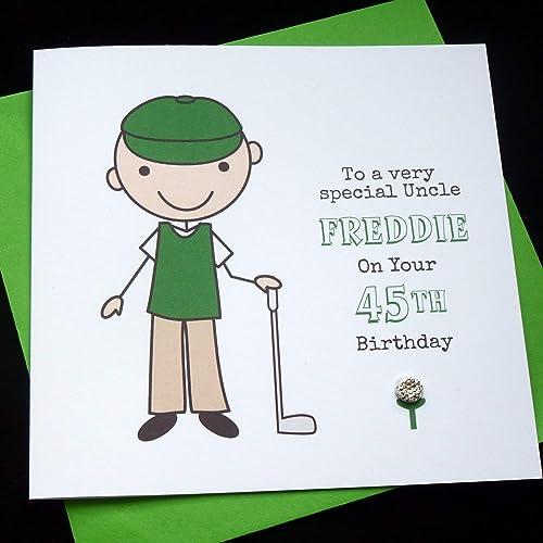 Handmade Personalised Golf Golfer Birthday Card Amazoncouk