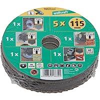 Wolfcraft 1663000 conjunto básico para amoladora de ángulo, 5 pzas. PACK 1,…