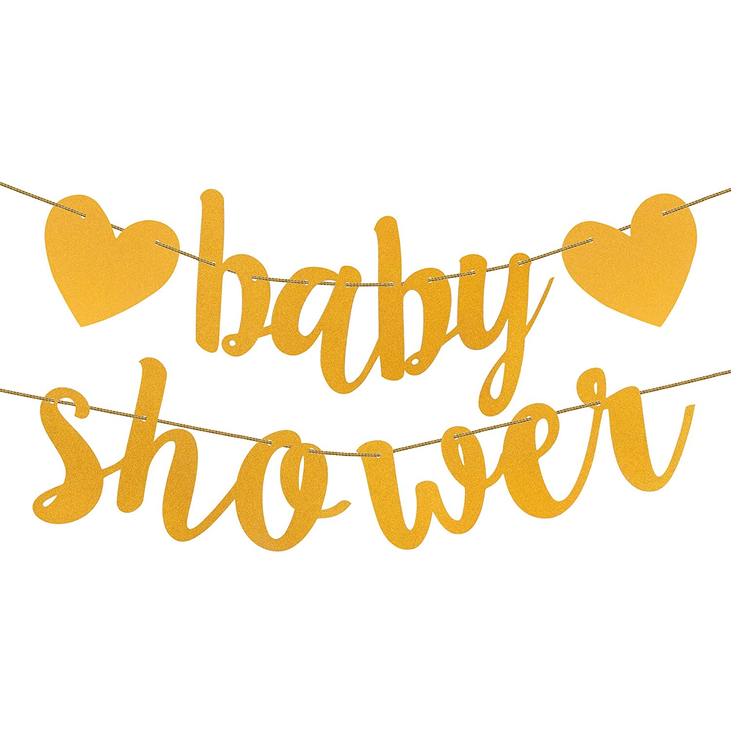 Baby Shower Decorations /& Games Pack for Boys//Girls Unisex Gold//Yellow Design