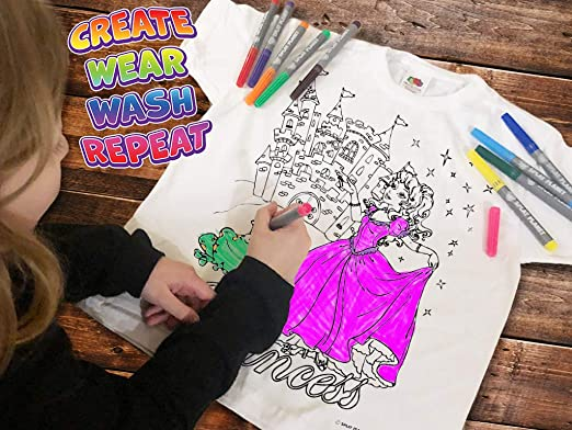 Splat Planet Colour-In Tshirts and Tote Bag Stencils BUNDLE extra Pens