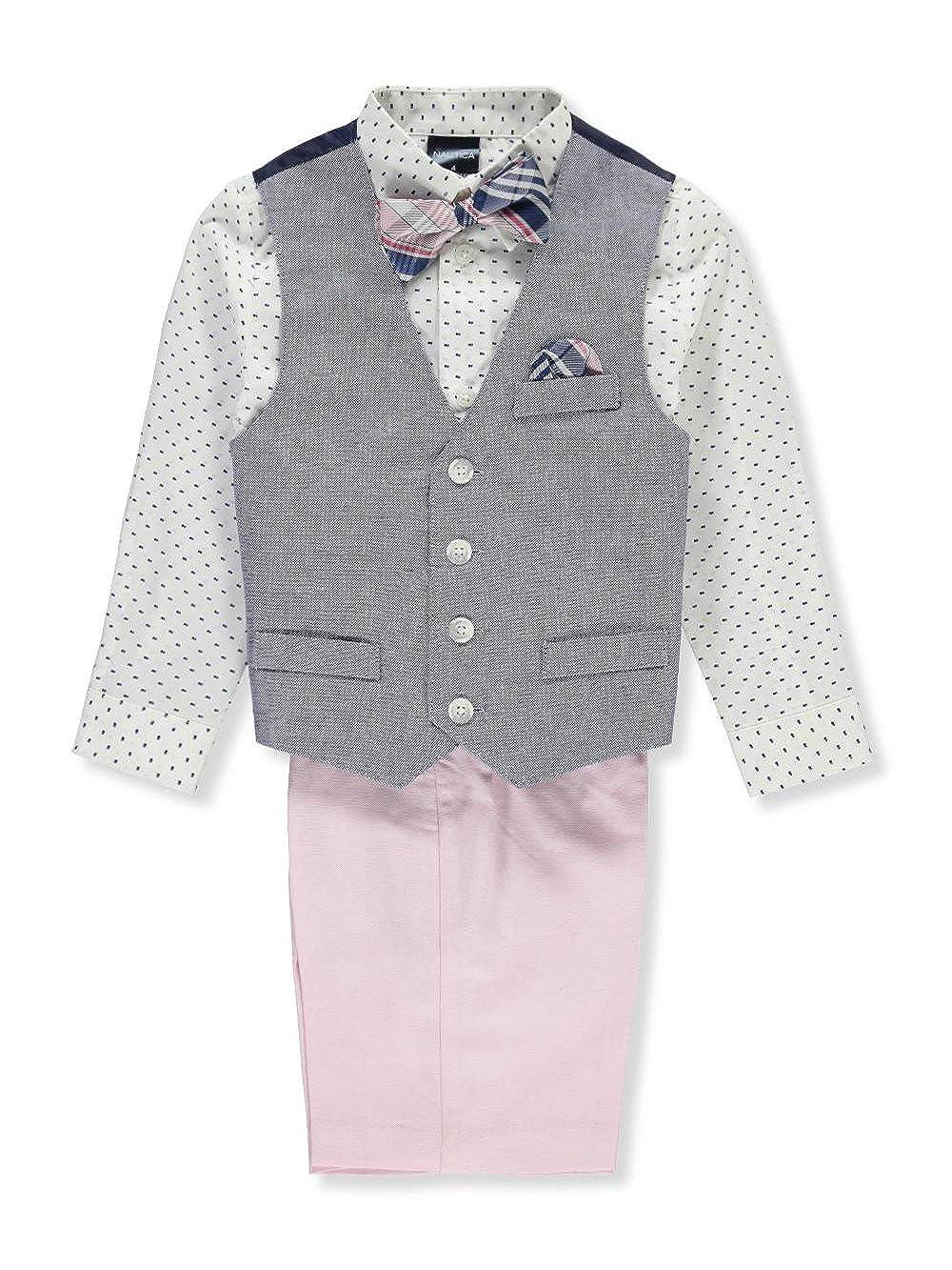 Nautica Boy's 4-Piece Formal Dresswear Vest Set with Bow Tie Nautica Dresswear Children' s Apparel