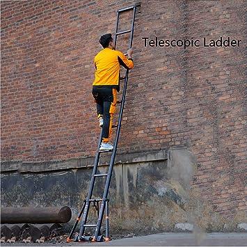 GYL Escaleras telescópicas Extensibles de Aluminio, Escaleras Plegables Telescópicas Extensibles con La Barra Estabilizadora Escalera Portátil Loft Extensión Multi Propósito Negro (Size : 3.9m): Amazon.es: Hogar