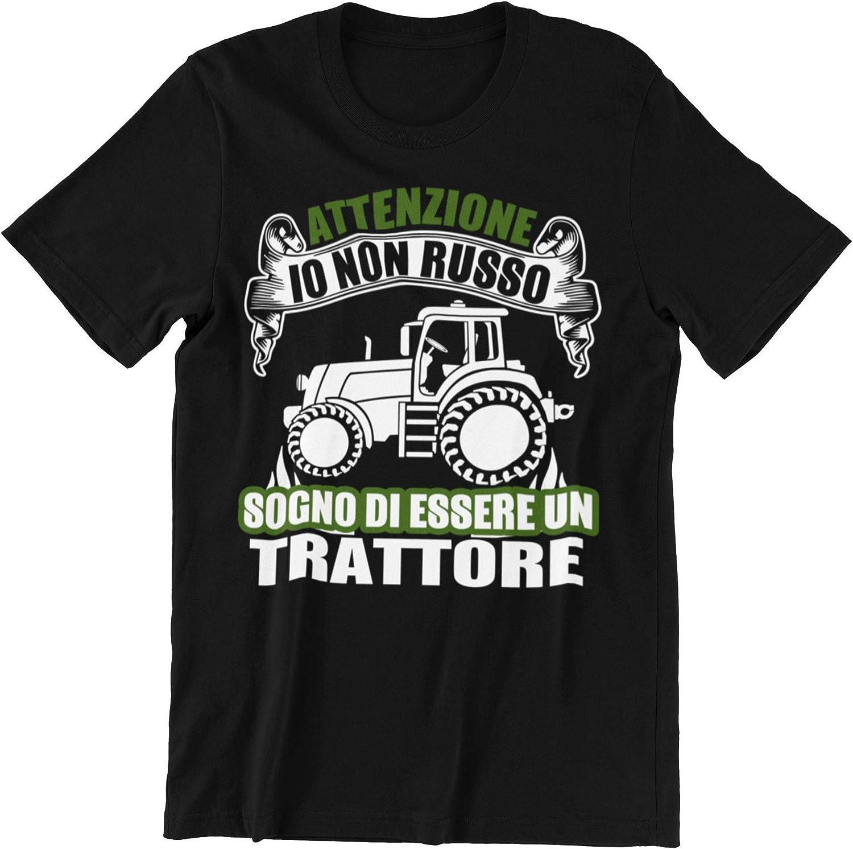 Vulfire Camiseta para hombre, idea de regalo simpática para marido, hermano, papá, novio, atención a soñar de ser un tractor