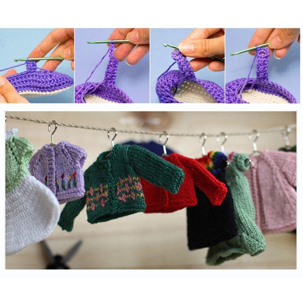 Aolvo - Estuche de ganchillo de crochet, 10 piezas de ...