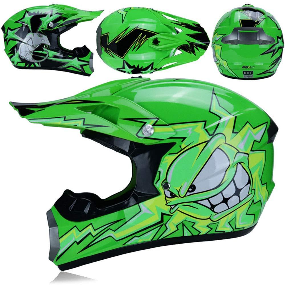 S, M, L, XL Dual Sport Off Road Moto Motocross Casque Dirt Bike ATV Dot certifi/é en col/ère Vert Soleil
