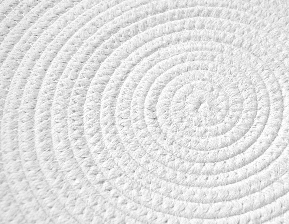 GR Carpet Handgewebte Baumwolle runde Teppich Einfache Tisch Tisch Tisch Matte, Runde geflochtene Matte kann gewaschen Werden Teppich (Farbe   Coffee beige, größe   D-150cm) B076WZHZRH Teppiche 533f97