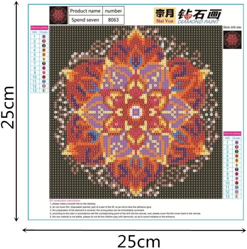 F Geyou 5D Diamond Painting Night Sky Flower Stitch DIY Embroidery Diamond by Number Kits Home Decor Gift New,Cross-Stitch Stamped Kits