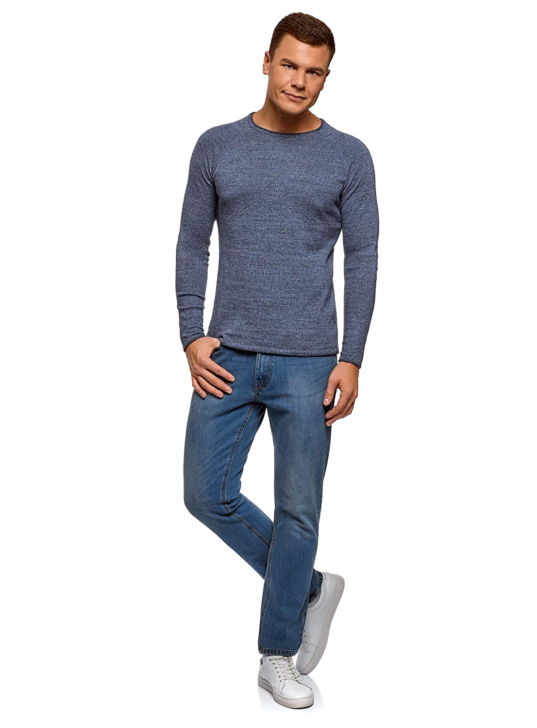 oodji Ultra Mens Basic Crew Neck Pullover