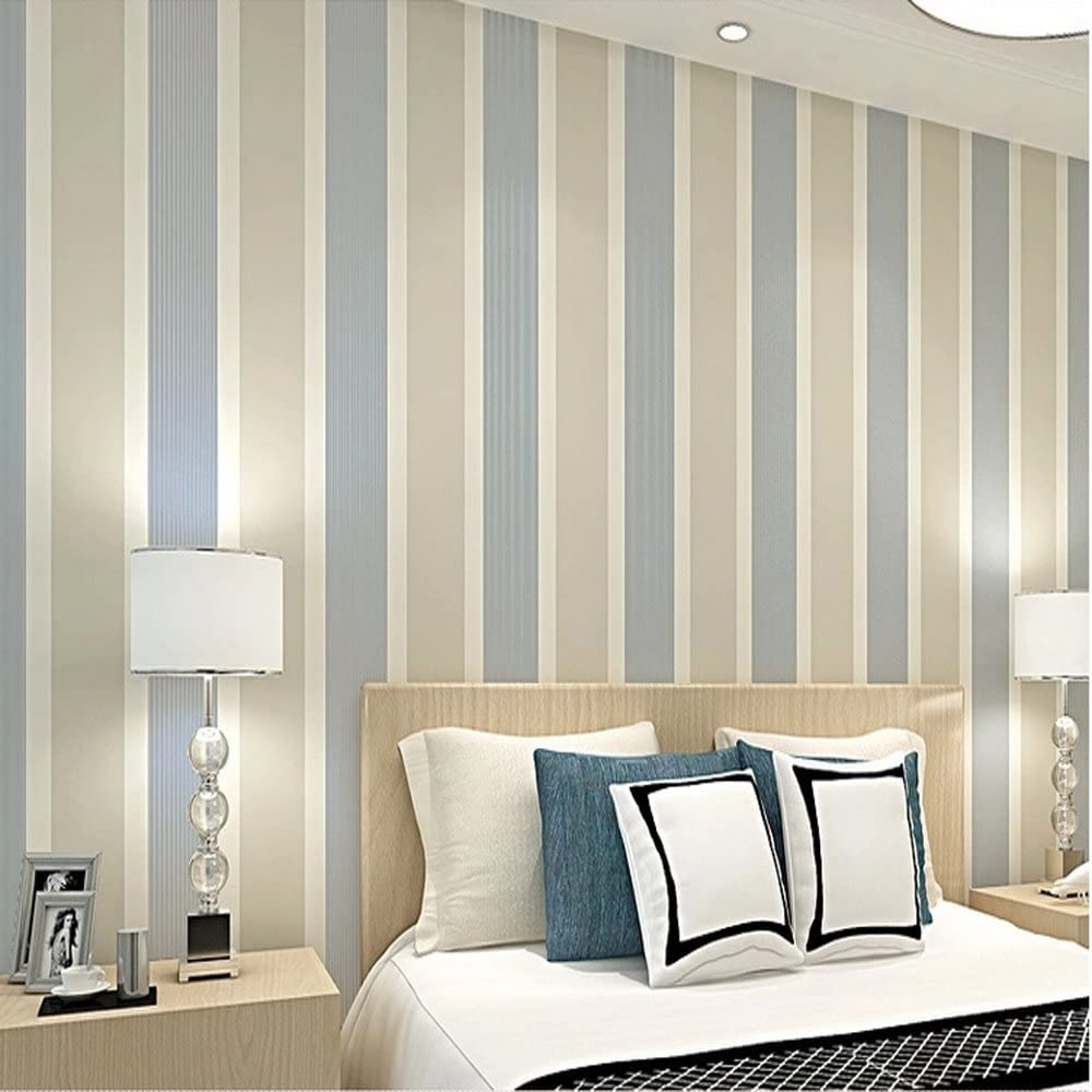 10m Modern Simple Lines Non-woven Wallpaper TV Background Living Room Bedroom 3D