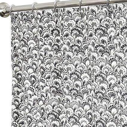 Amazon Com Extra Long Shower Curtain Fabric Shower Curtains Black