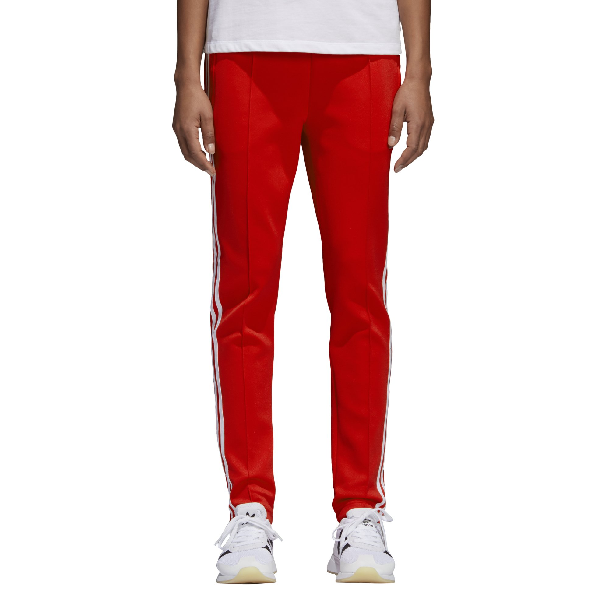 adidas Originals Women's Superstar Trackpant, Radiant Red, L