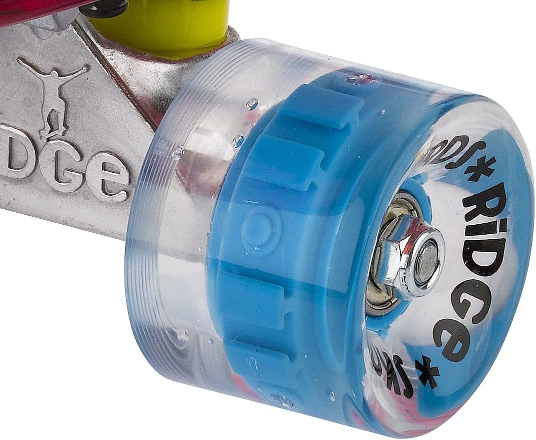 Ridge Blaze Mini Cruiser Skateboard Skate Transparent avec Roues Lumineuses LED Planche a roulettes Complet