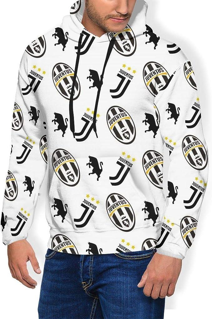 TSIgorjds Juventus FC Felpa con Cappuccio Pullover Basic da Uomo E da Donna Felpe Autunnali E Invernali A Maniche Lunghe T-Shirt E Tasche Leggere