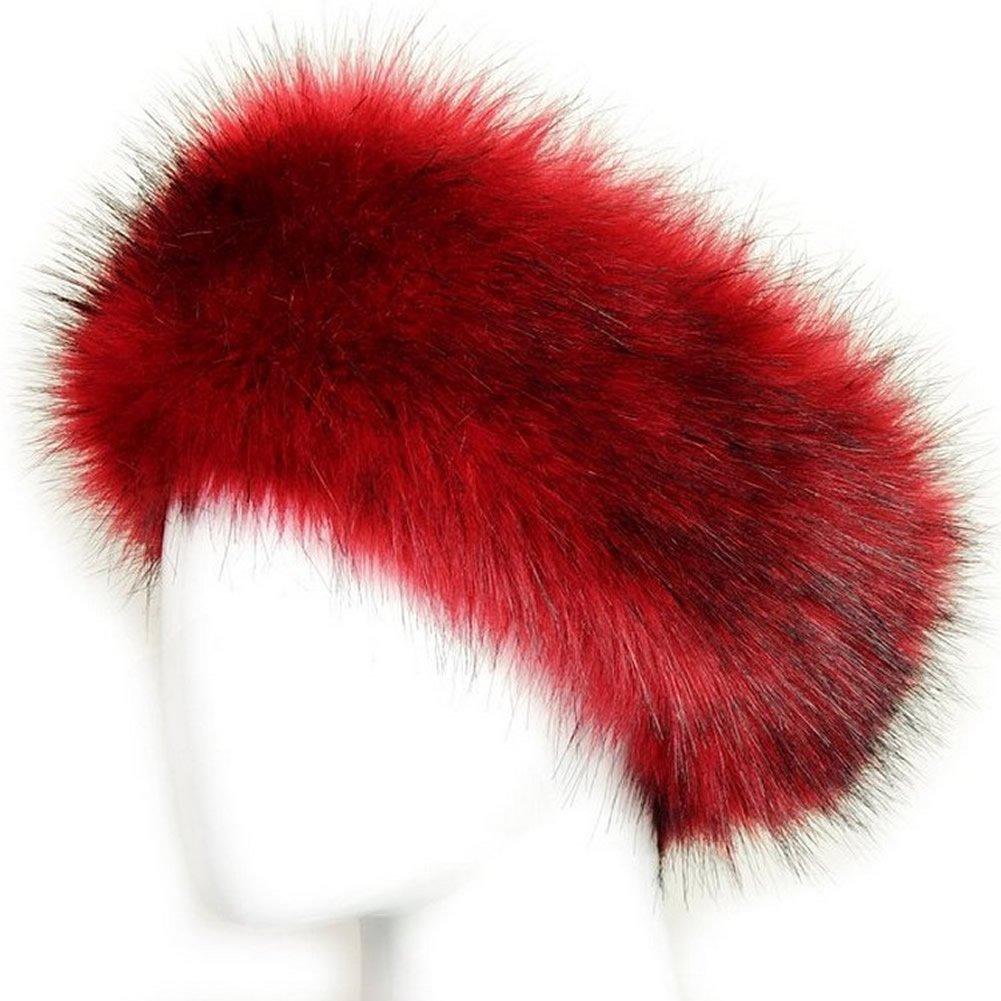 Chunshop Russian Style Faux Fur Headband Earmuffs Hat Beanie Cap
