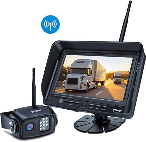 Wireless Backup Camera System Kit, IP69K Waterproof Wireless Rear View Camera