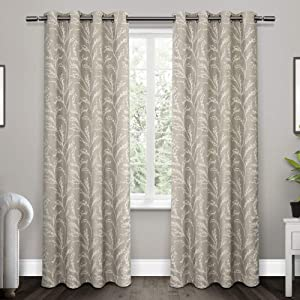 Exclusive Home Curtains Kilberry Woven Blackout Grommet Top Curtain Panel Pair, 52x84, Dove Grey, 2 Piece
