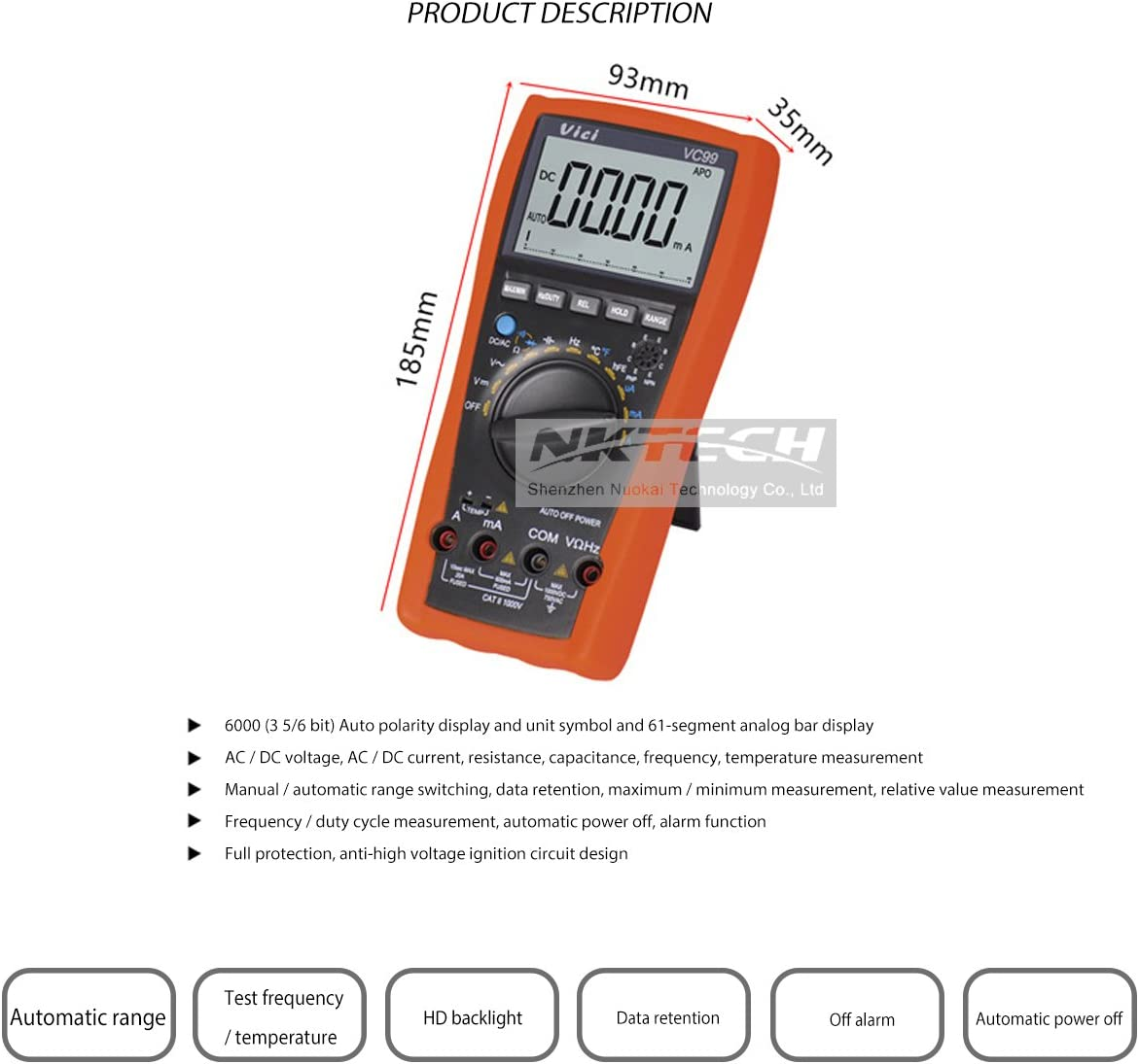 Analogue Multimètre Testeur DC /& AC Tension plomb Courant DC /& Résistance