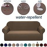 Granbest - Funda para sofá de tela supersuave y elástica, repelente al agua, Coffee, X-large