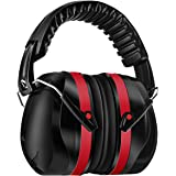 Homitt Sound Hearing Protection Ear Defenders for Shooting, Hunting, Working or Construction – Red and Black