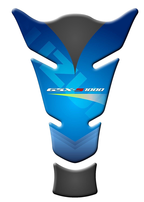 TANK PAD Protection de R/éservoir MOTO Compatible 3D R/ésine pour SUZUKI GSXS GP-108 1000 bleu