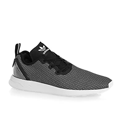 detailing 0bdcb c5468 adidas Mens Originals Zx Flux Adv Asymmetrical Trainers Core Black/Blue Glow