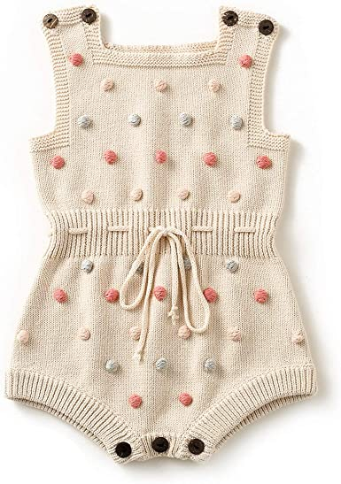 Simplee kids Baby Boy Overalls Cotton Knitted Sweater Color Stripe Cute Kids Clothes for Fall 3-24 Months