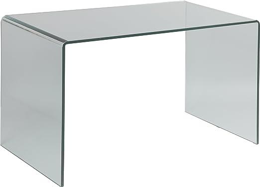 Destock Meubles Mesa Diseño Cristal Curvado: Amazon.es: Hogar