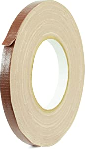 MAT Duct Tape Dark Brown Industrial Grade, 1/2 inch x 60 yds. Waterproof, UV Resistant for Crafts, Home Improvement, Repairs, & Projects