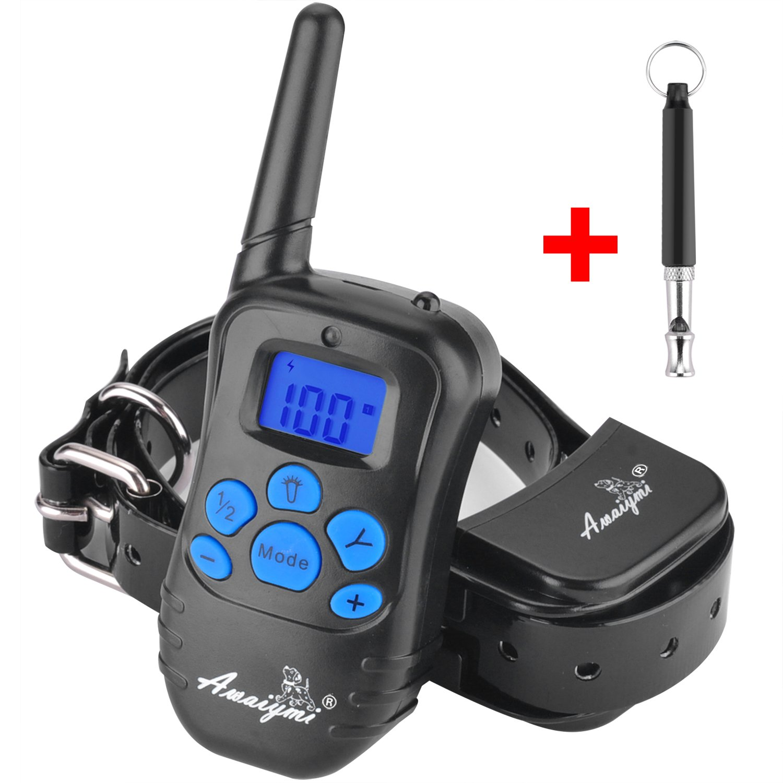 Awaiymi Dog Training Collar with Remote 1000ft [2018 Upgraded] Rechargeable Rainproof Dog Shock Collar with Beep Vibration Shock for Small Medium Large Dogs, Dog Training Set Bonus