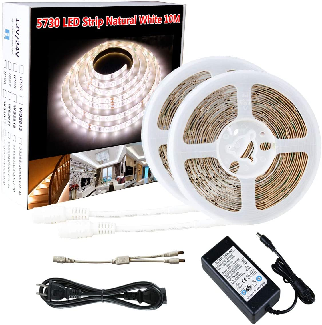 3528 5050 5630 SMD 5M 300 LED Waterproof Flexible Roll Strip Light Tape DC12V