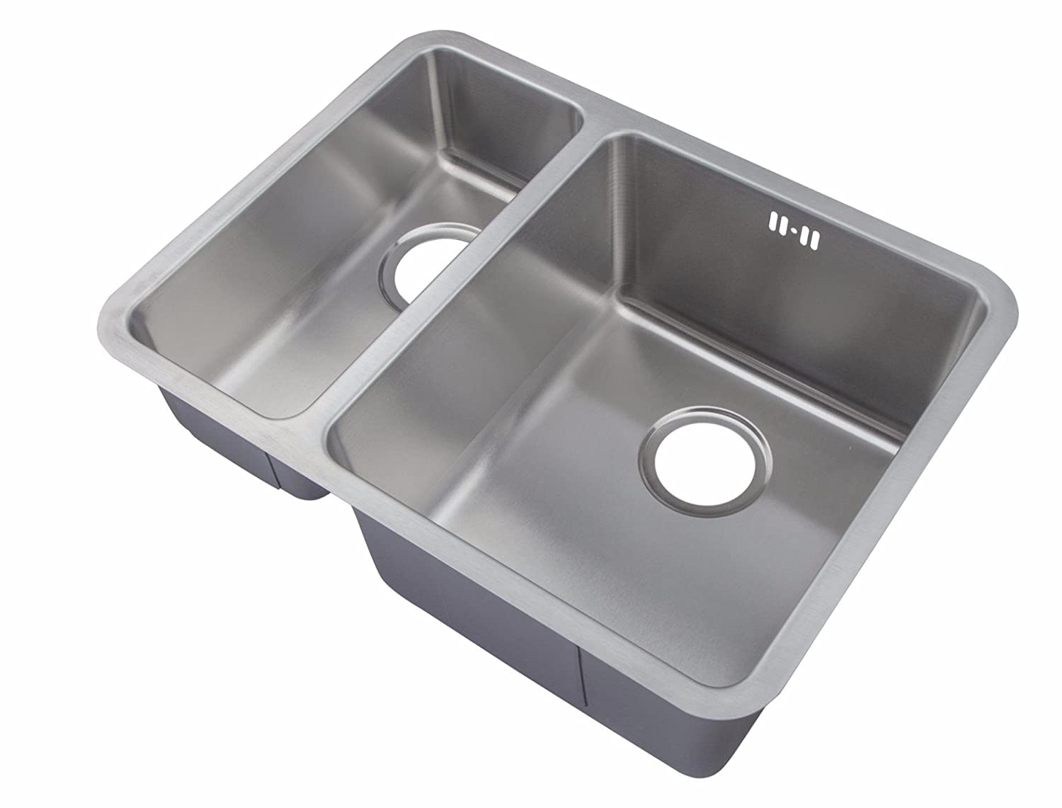 Undermount Stainless Steel 1 5 Bowls Kitchen Sinks Waste Kit D03 Large Bowl