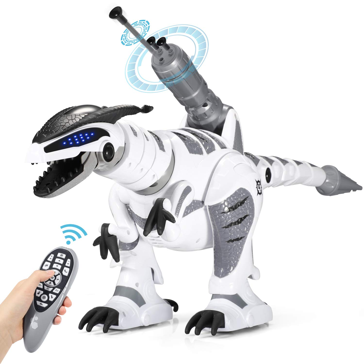 SGILE RC Dinosaur Robot Toy, Smart Programmable Interactive Walk Sing Dance for Kids Gift Present by SGILE (Image #1)