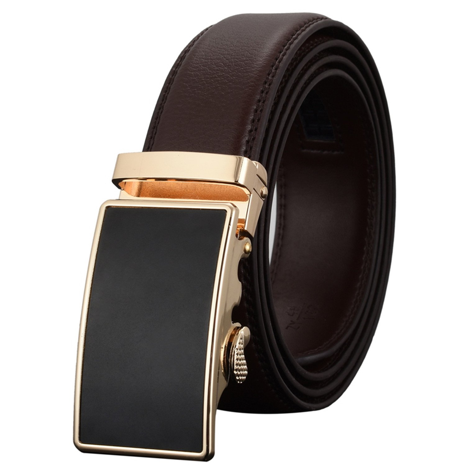 Meetloveyou Automatic Buckle Leather luxury Designer Male Belts For men Business Alloy buckle Men belt