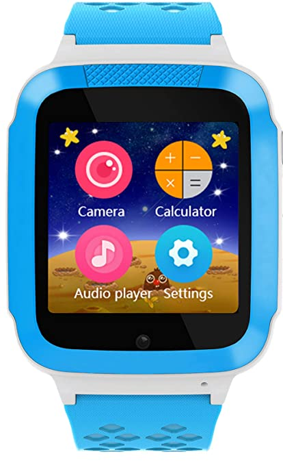 DanCoTek Smart Watch for Kids Phone Watch Unlocked 2G GSM with Games SOS Calls (Blue)