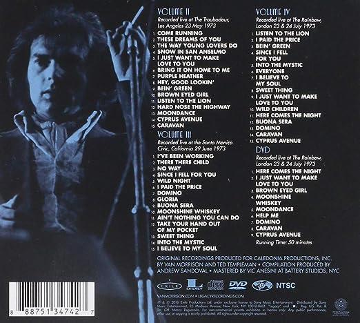 Van Morrison It S Too Late To Stop Now Volumes Ii Iii Iv Dvd Music
