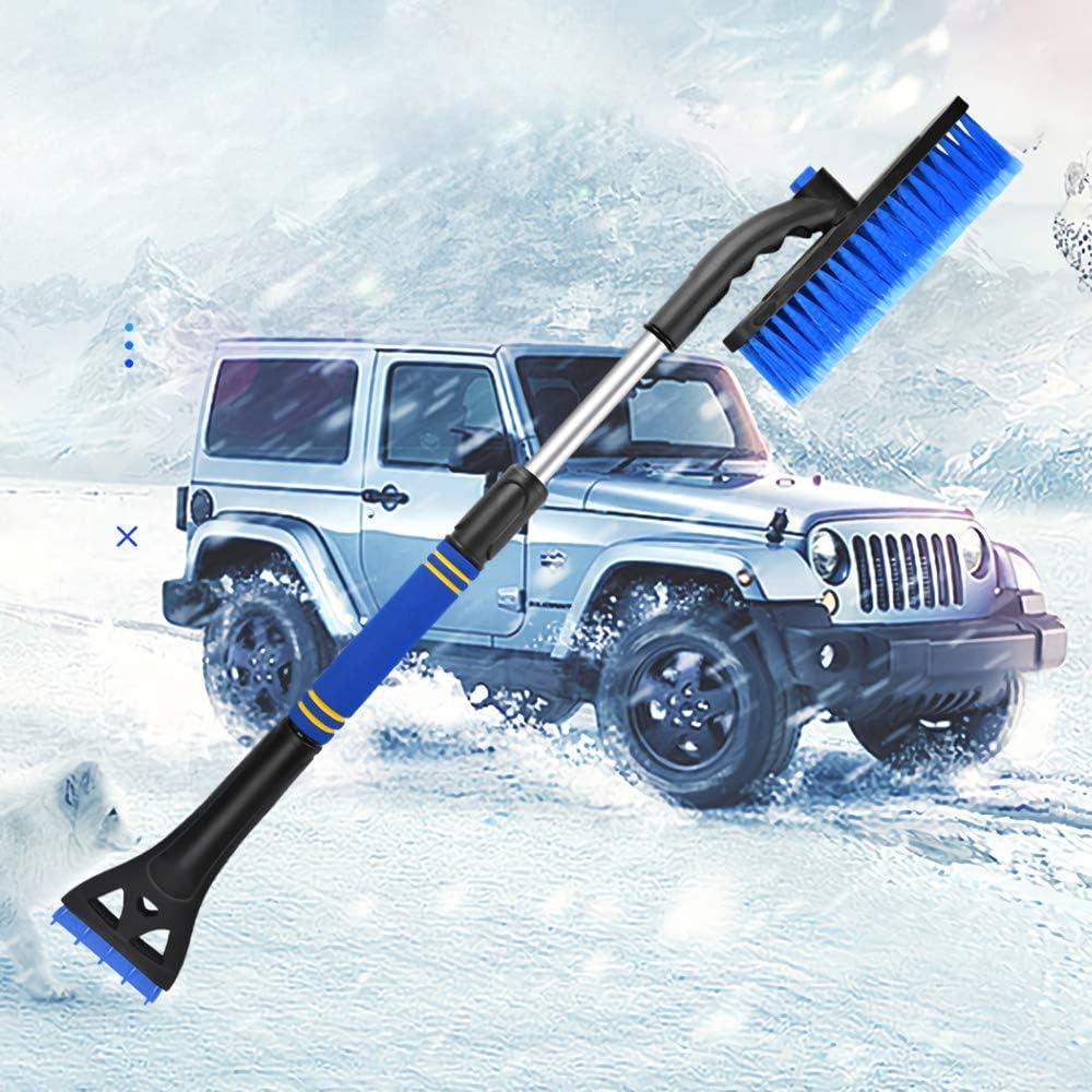 NTTR Snow Brush and Ice Scraper 32 Detachable Car Snow Brush Removal with Ice Scraper and Ergonomic Foam Grip for Car Auto SUV Truck Windshield Windows