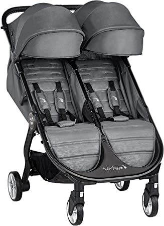 Oferta amazon: Baby Jogger City Tour 2 Doble Slate - Cochecito gemelar desde nacimiento. Color gris