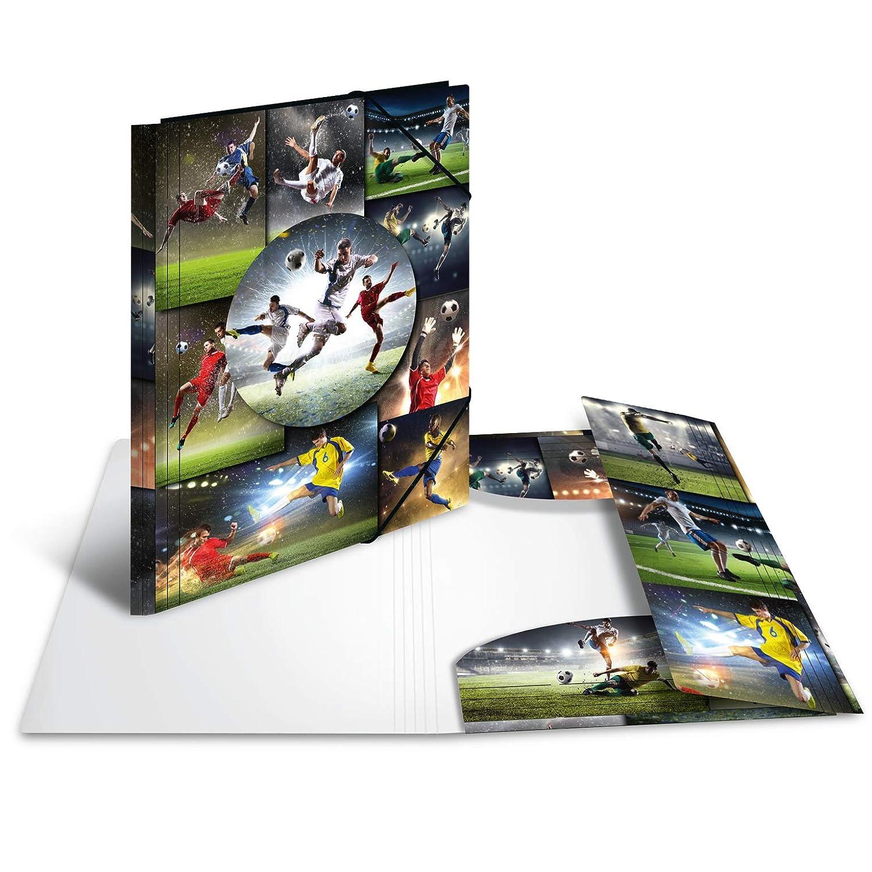 in plastica risvolti Bedruckt 1/pezzi serie da collezione motivo: Calcio /Cartellina DIN A4 segno Mappe Con con elastici in gomma HERMA 19187/