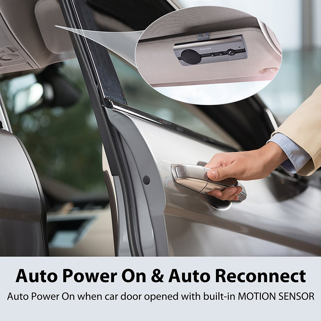 Avantree Auto Power On Bluetooth Car Handsfree Kit With Motion Sensor And Circuit Board Spare Parts Accessories For Hands Free Call Support Gps Music Wireless In Visor Speakerphone Kits