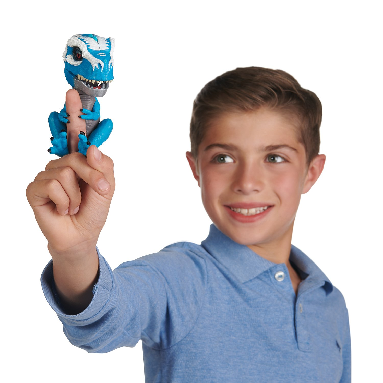 WowWee Untamed T-Rex by Fingerlings Ironjaw (Blue) -Interactive Collectible Dinosaur by WowWee (Image #6)