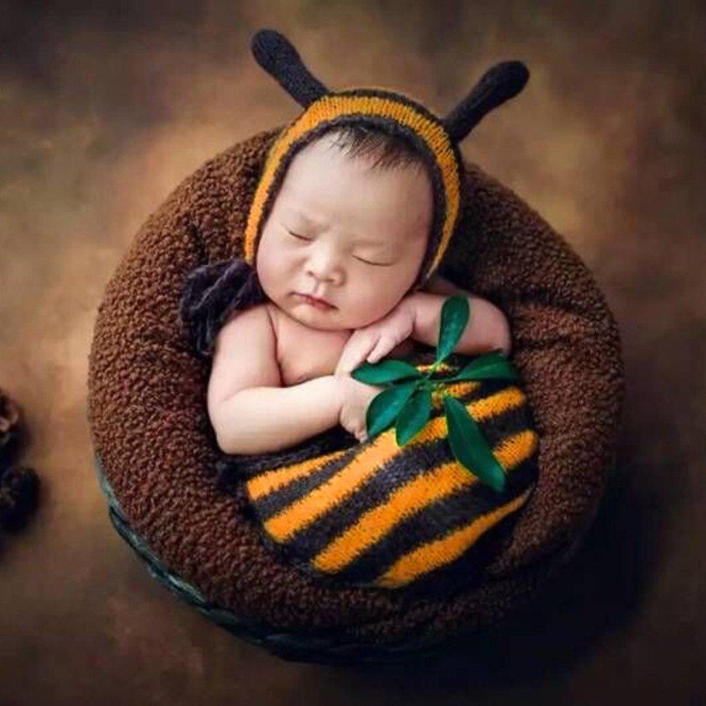Cinnamou Sombreros y Saco de Dormir de bebé recién Nacido Traje ...