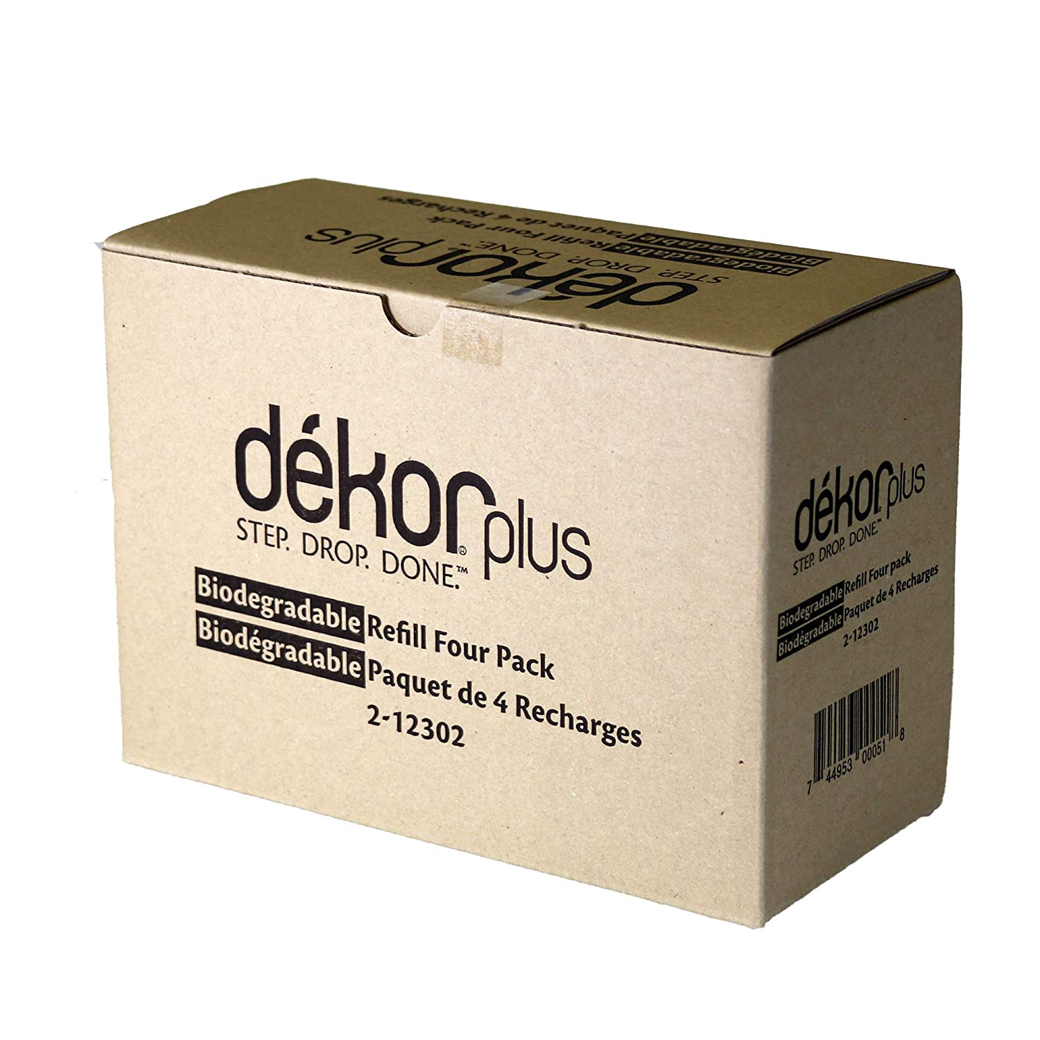 Dekor Plus Diaper Pail Biodegradable Refills | Most Economical Refill System | Quick and Simple to Replace | No Preset Bag Size – Use Only What You Need | Exclusive End-of-Liner Marking | 4 Count Regal Lager 2-12302
