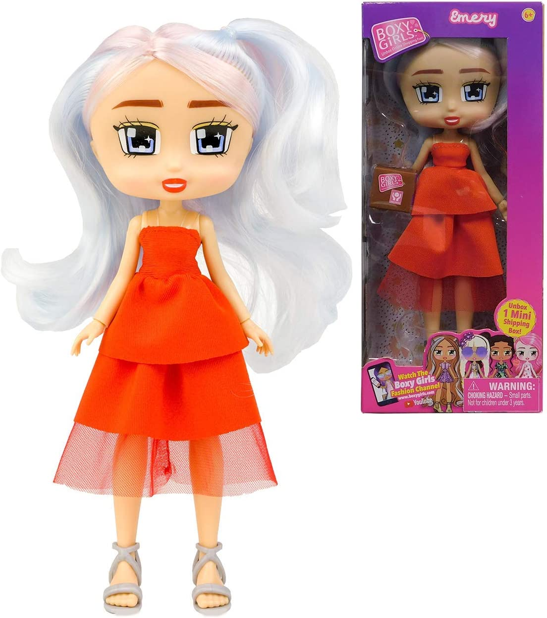 Boxy Girls Emery - Girls Fashion Doll with One 1 Mini Mystery Box